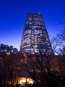 東京都 毛利庭園から眺めた六本木ヒルズの写真素材 [FYI04309985]