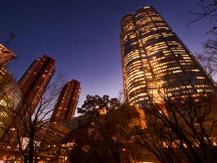 東京都 毛利庭園から眺めた六本木ヒルズの写真素材 [FYI04309986]