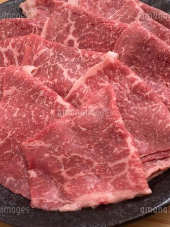 国産黒毛和牛の薄切りの写真素材 [FYI04310002]