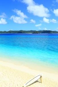 阿嘉島の北浜(ニシバマ)ビーチの写真素材 [FYI04310233]