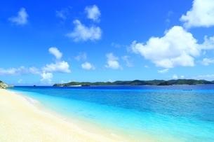 阿嘉島の北浜(ニシバマ)ビーチの写真素材 [FYI04310243]
