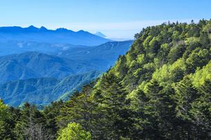 信州 長野県小県郡長和町美ケ高原から見る富士の写真素材 [FYI04310366]