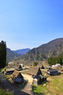 世界文化遺産 春の菅沼合掌造り集落の写真素材 [FYI04310720]