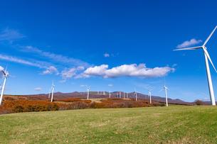 北海道伊達市 風力発電の風車の写真素材 [FYI04310810]