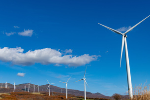 北海道伊達市 風力発電の風車の写真素材 [FYI04310811]
