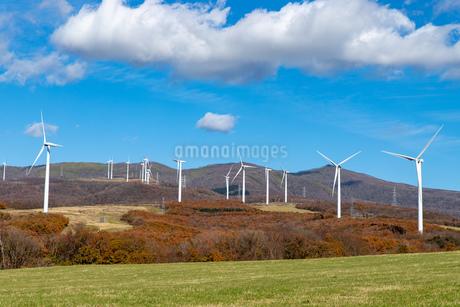 北海道伊達市 風力発電の風車の写真素材 [FYI04310812]
