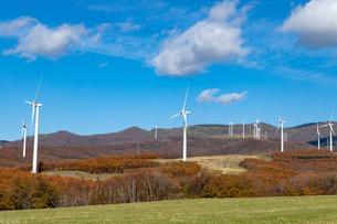北海道伊達市 風力発電の風車の写真素材 [FYI04310814]