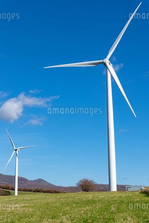 北海道伊達市 風力発電の風車の写真素材 [FYI04310821]