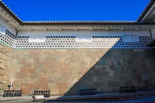 金沢城石川門の石垣の写真素材 [FYI04310897]