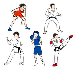 格闘技のイラスト素材 [FYI04310934]