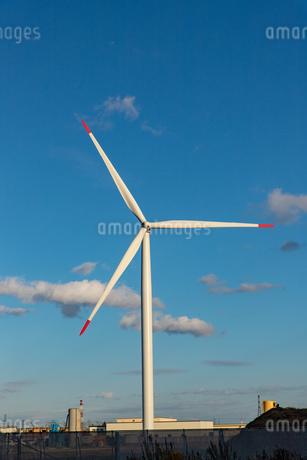 北海道石狩湾 風力発電の風車の写真素材 [FYI04311644]