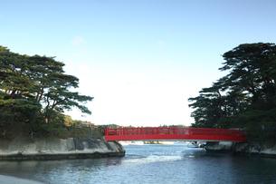 日本三景の宮城県松島の渡月橋の写真素材 [FYI04311788]