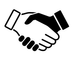 握手のアイコンのイラスト素材 [FYI04311813]