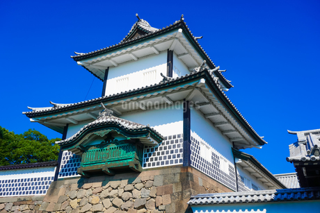 金沢城 石川橋から石川門や石川櫓の写真素材 [FYI04311821]