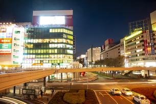 仙台駅前より仙台街並の夜景の写真素材 [FYI04313583]