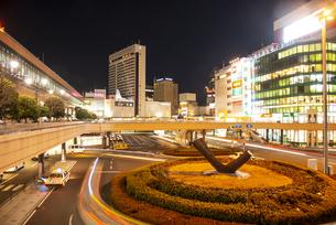 仙台駅西口夜景の写真素材 [FYI04313591]
