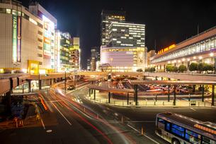 仙台駅西口夜景の写真素材 [FYI04313603]