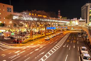 仙台駅西口夜景の写真素材 [FYI04313605]