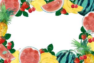 果物フレームのイラスト素材 [FYI04313701]