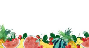 果物フレームのイラスト素材 [FYI04313707]