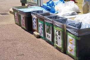 花見のゴミ箱の写真素材 [FYI04314691]
