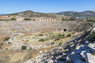 アフロディシアス遺跡競技場の写真素材 [FYI04316162]