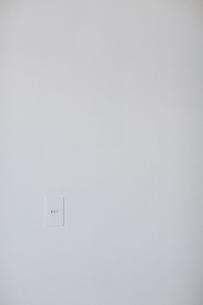 白い壁にあるスイッチの写真素材 [FYI04316323]