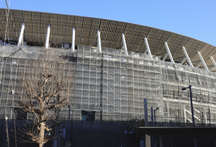 建設中の新国立競技場の写真素材 [FYI04316723]