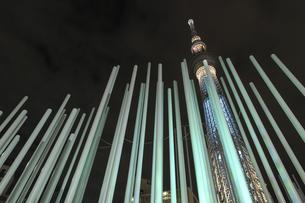 東京スカイツリーの夜景の写真素材 [FYI04316787]