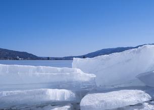 諏訪湖の御神渡りの写真素材 [FYI04316823]