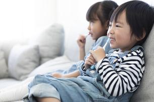 歯磨きをする子供たちの写真素材 [FYI04316976]
