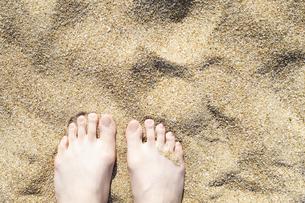 砂浜と足の写真素材 [FYI04317318]