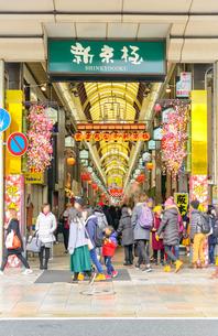 京都 新京極商店街の景観の写真素材 [FYI04317563]