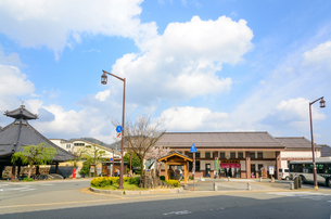 城崎温泉駅の景観の写真素材 [FYI04317590]