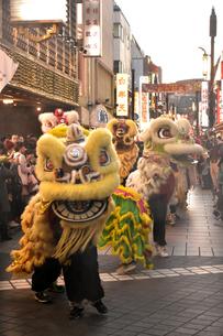 中華街春節パレード2017の写真素材 [FYI04318216]