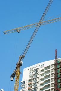 high rise under constructionの写真素材 [FYI04319639]