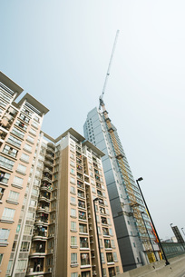 High rises, one under constructionの写真素材 [FYI04319653]