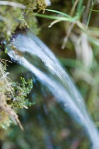Water flowing from stream, defocusedの写真素材 [FYI04319707]