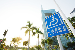 handicapped parking signの写真素材 [FYI04319921]