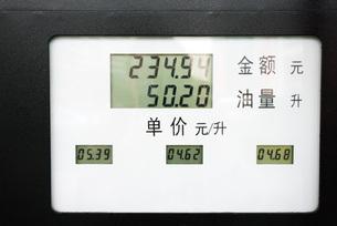 Digital display on Chinese gas pumpの写真素材 [FYI04319932]