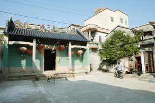 Chinese templeの写真素材 [FYI04319970]