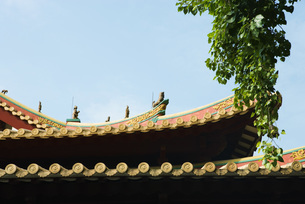 Chinese temple, roof detailの写真素材 [FYI04319974]