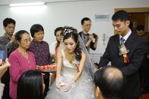 Chinese wedding tea ceremonyの写真素材 [FYI04320468]