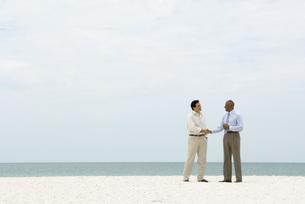 Two businessmen shaking handsの写真素材 [FYI04320510]