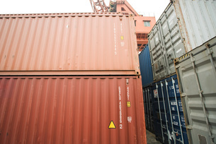 Cargo containersの写真素材 [FYI04320540]