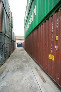 Cargo containersの写真素材 [FYI04320563]
