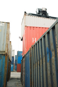 Cargo containersの写真素材 [FYI04320565]