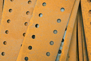 Perforated metal sheetsの写真素材 [FYI04320680]