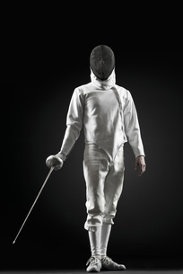 Fencer, portraitの写真素材 [FYI04321936]