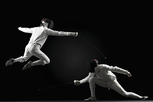 Fencers fencingの写真素材 [FYI04322558]